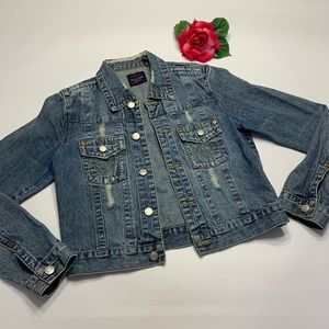 OTB One Tuff Babe Womens Medium Blue Jean Jacket